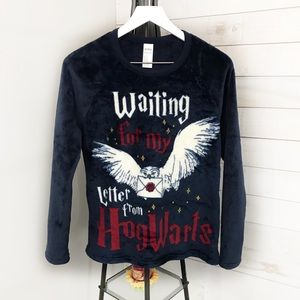 Harry Potter Long Sleeve Graphic Fleece Pullover